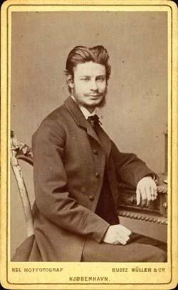 Litteraturkritikeren Georg Brandes (1842-1927)